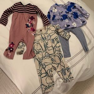 Three Tea Collection Outfits - size 6-9 months